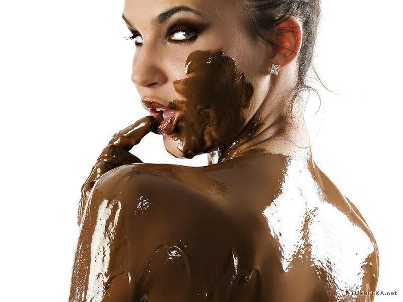 голая девушка вся в шоколаде эротическое видео